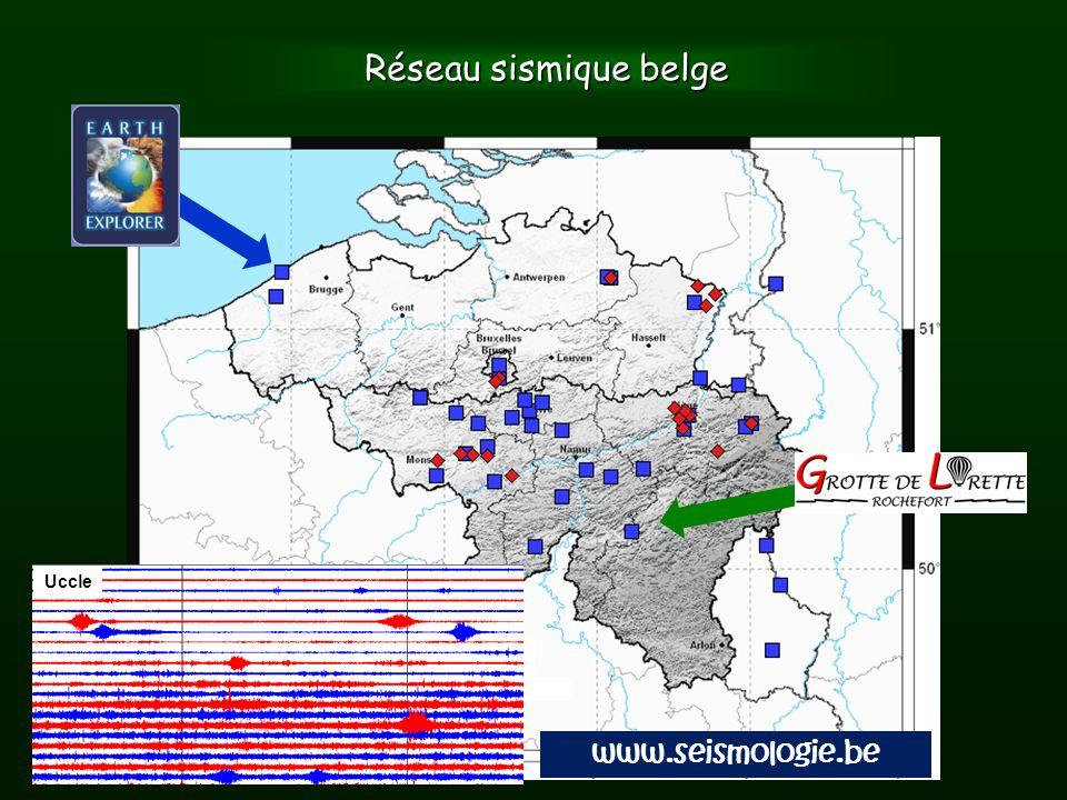 Réseau sismique belge Uccle www.seismologie.be