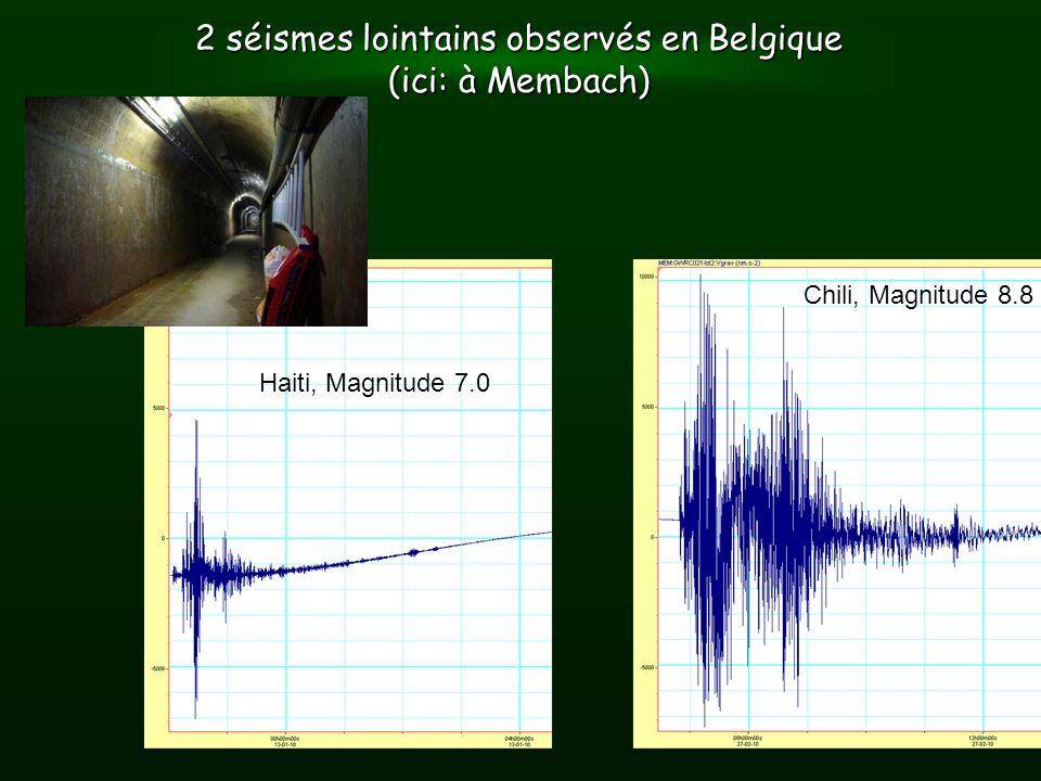 2 séismes lointains observés en Belgique