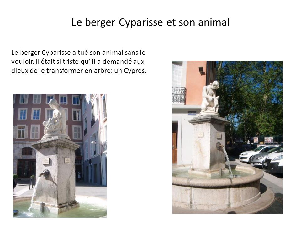 Le berger Cyparisse et son animal