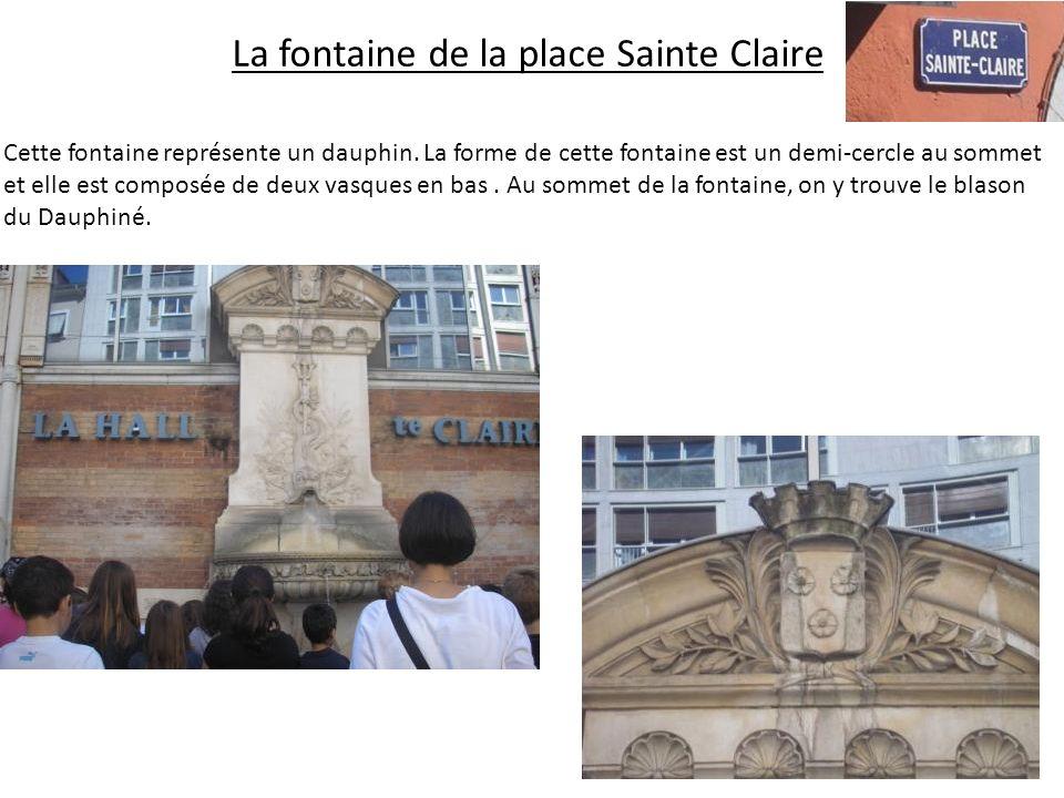 La fontaine de la place Sainte Claire