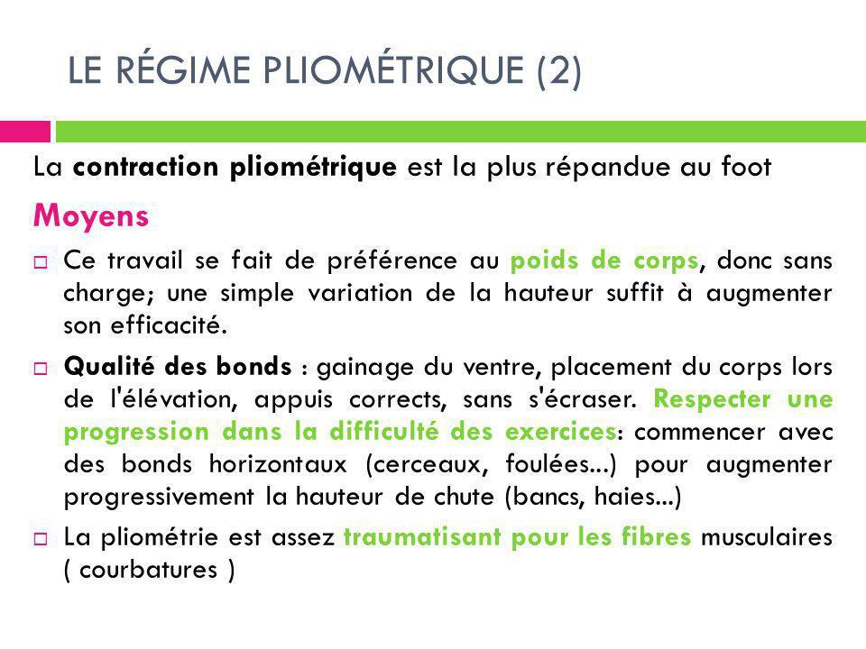 LE RÉGIME PLIOMÉTRIQUE (2)