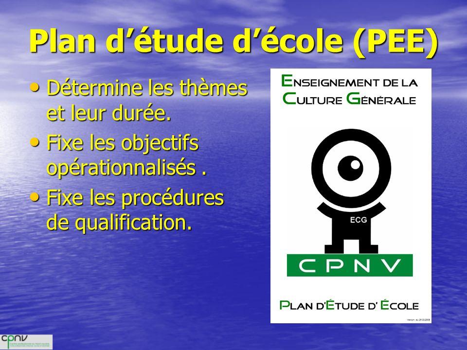 Plan d'étude d'école (PEE)