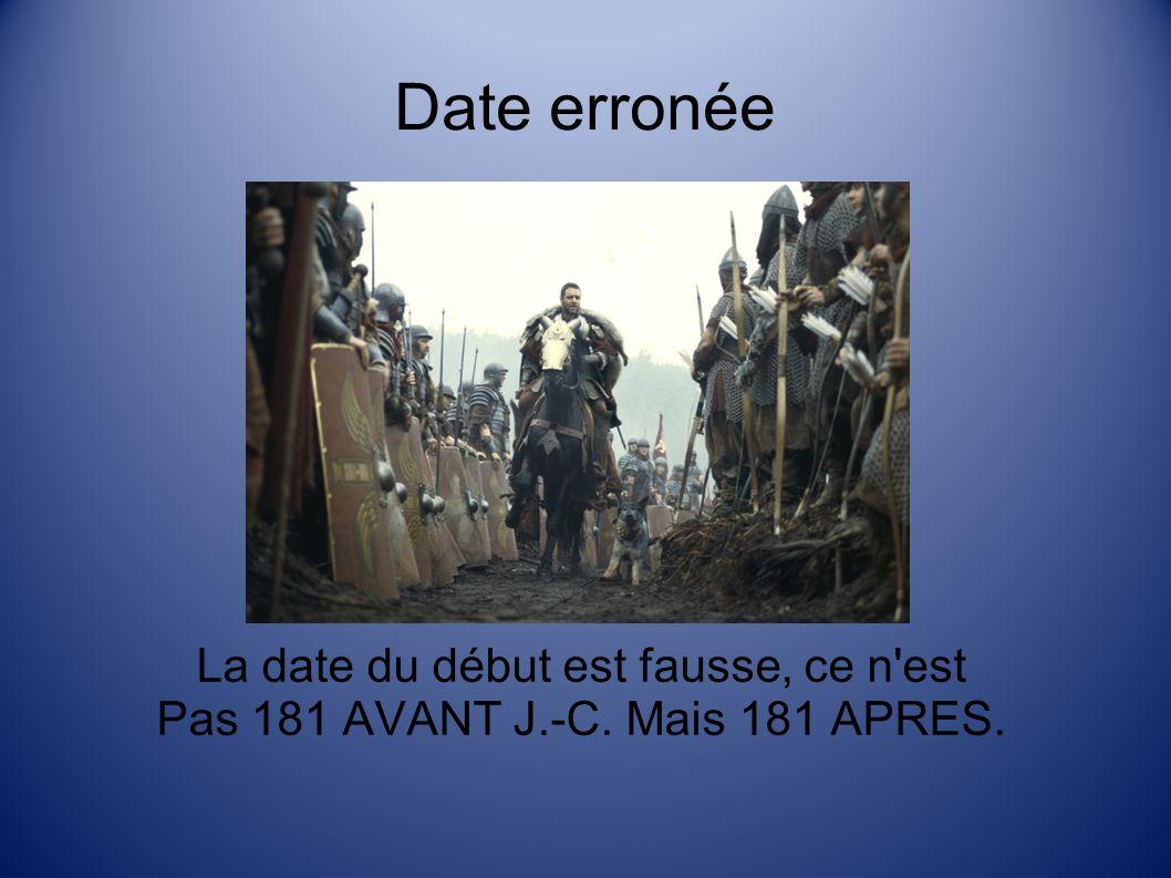 Date erronée La date du début est fausse, ce n est