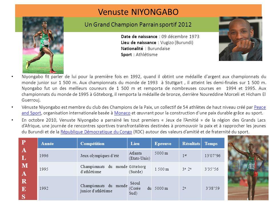 Un Grand Champion Parrain sportif 2012
