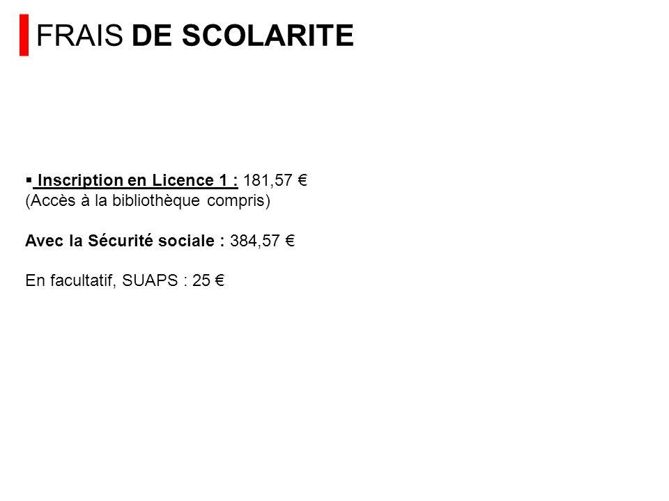 FRAIS DE SCOLARITE