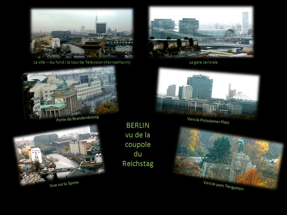 vu de la coupole du Reichstag