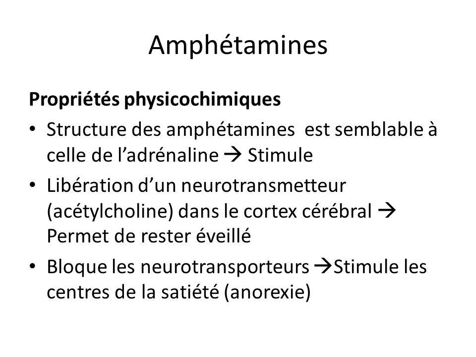 Amphétamines Propriétés physicochimiques