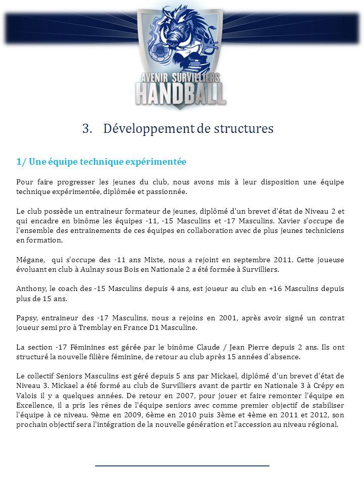 Développement de structures