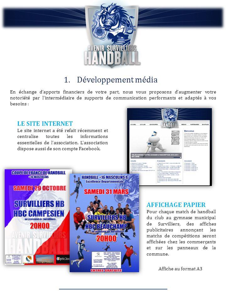 Développement média LE SITE INTERNET AFFICHAGE PAPIER