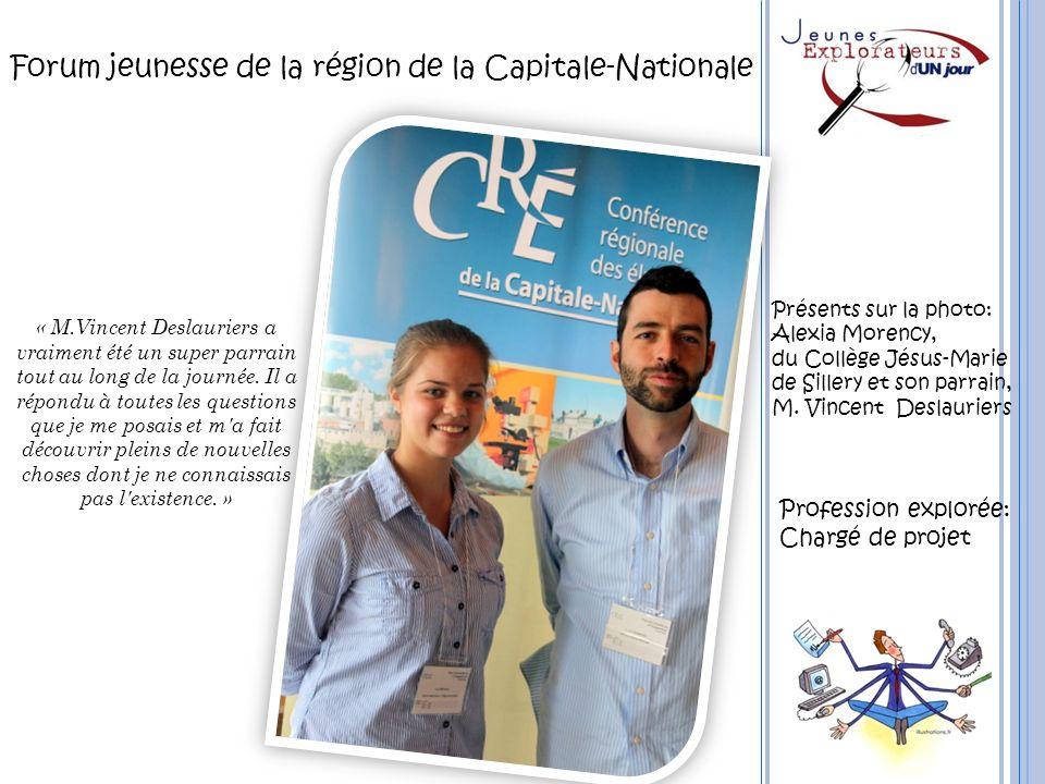 Forum jeunesse de la région de la Capitale-Nationale