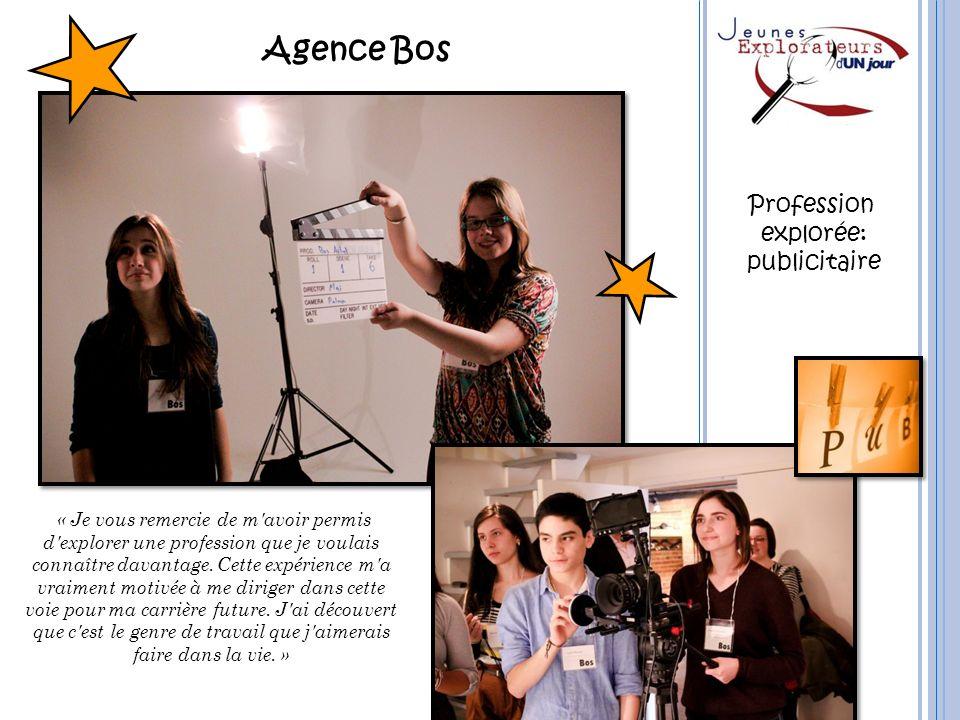 Agence Bos Profession explorée: publicitaire