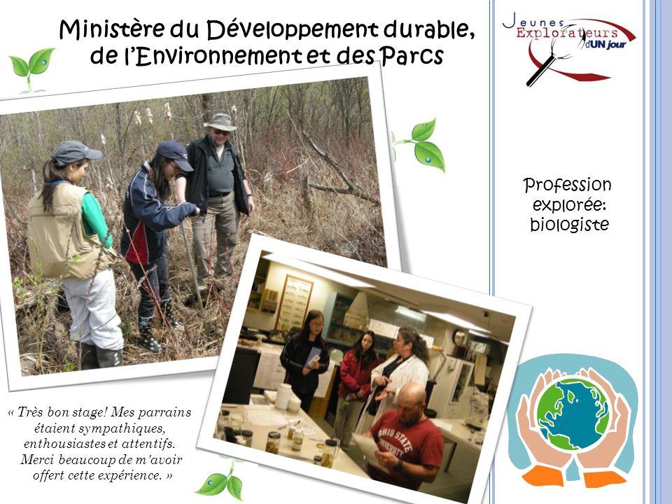 Ministère du Développement durable, de l'Environnement et des Parcs