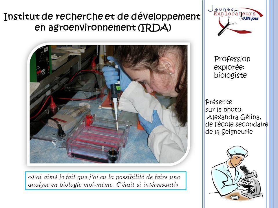 Institut de recherche et de développement en agroenvironnement (IRDA)