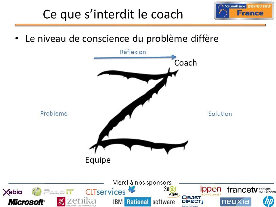 Ce que s'interdit le coach