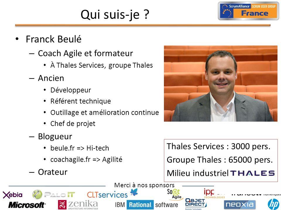 Qui suis-je Franck Beulé Coach Agile et formateur Ancien Blogueur