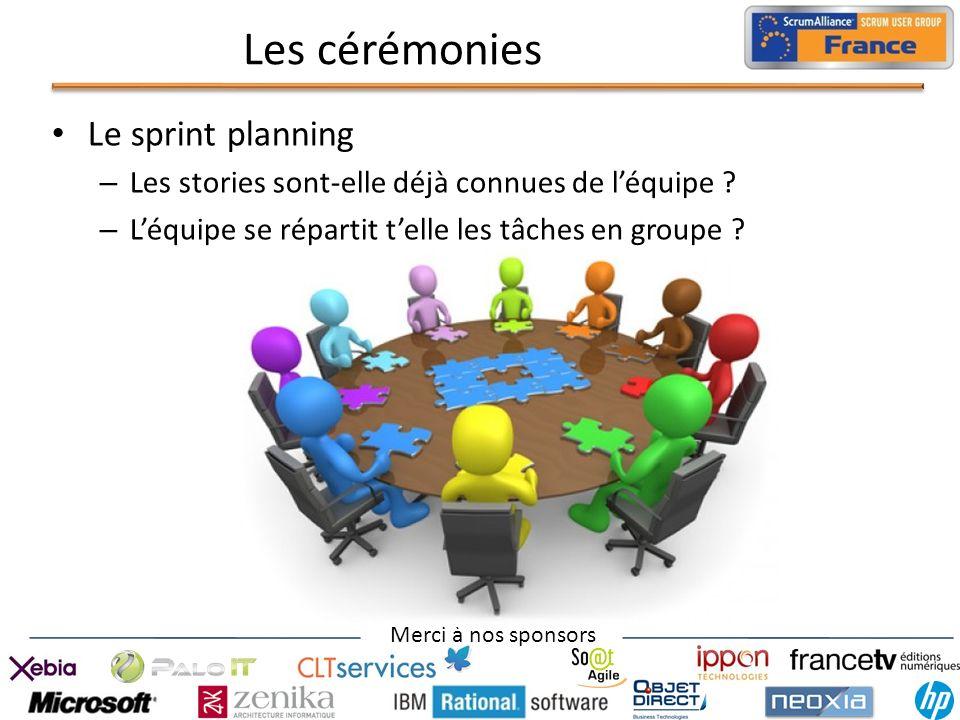 Les cérémonies Le sprint planning