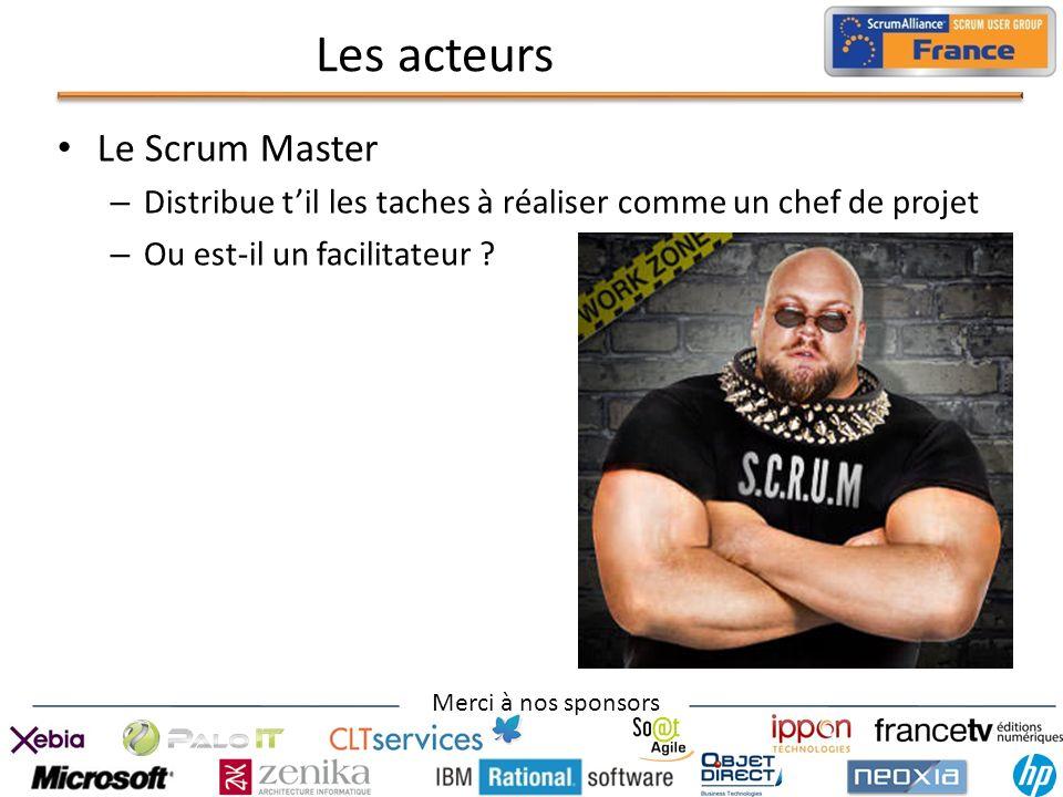 Les acteurs Le Scrum Master