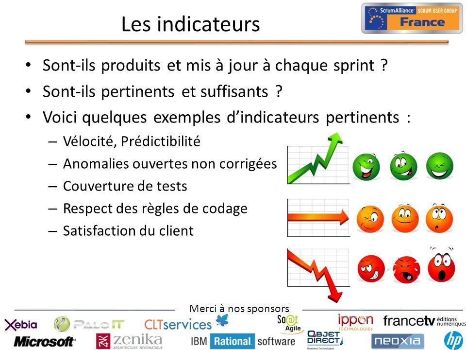 Les indicateurs Sont-ils produits et mis à jour à chaque sprint