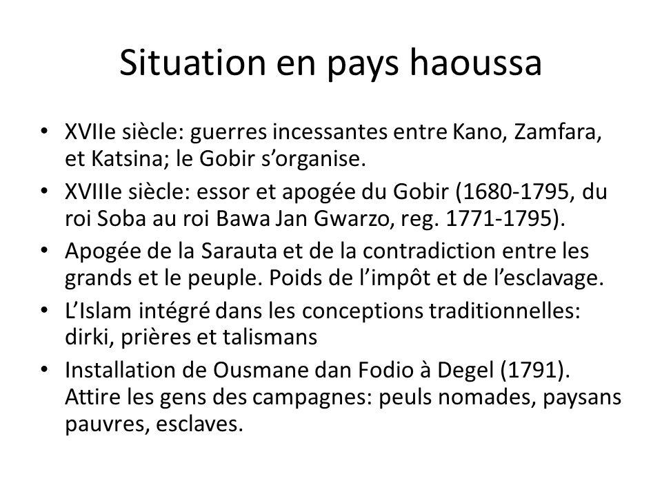 Situation en pays haoussa