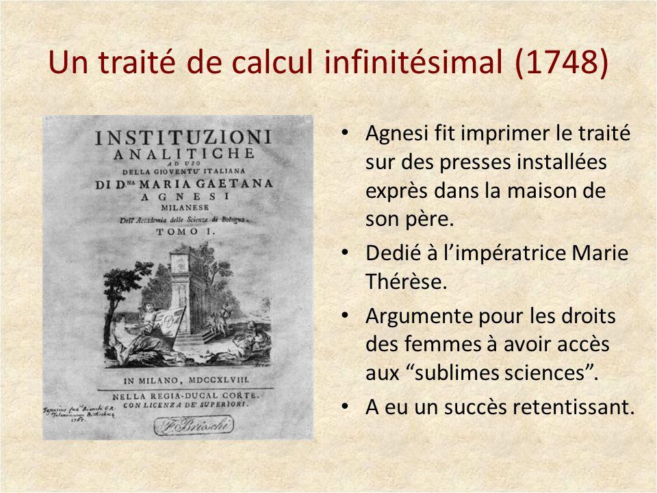 Un traité de calcul infinitésimal (1748)
