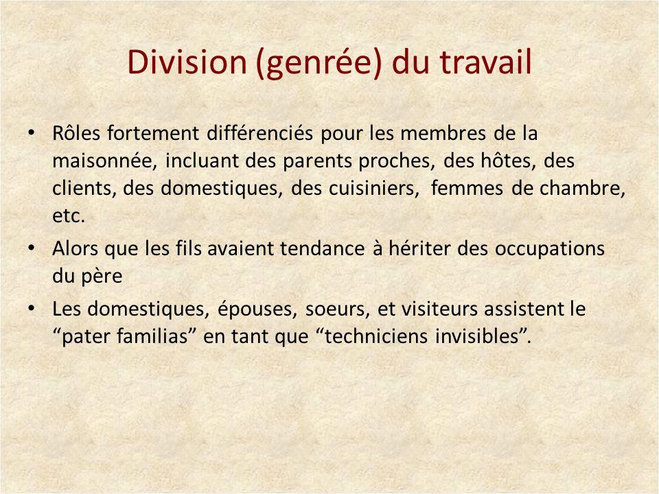 Division (genrée) du travail