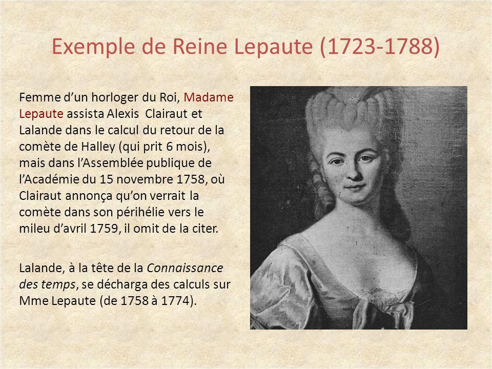 Exemple de Reine Lepaute (1723-1788)