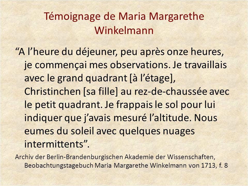 Témoignage de Maria Margarethe Winkelmann