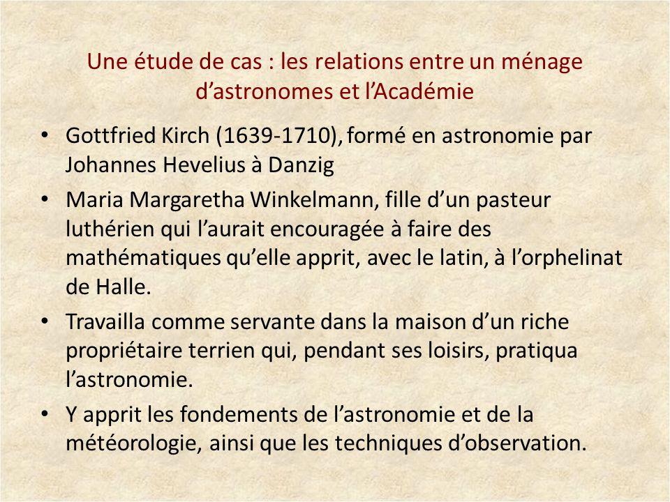 Une étude de cas : les relations entre un ménage d'astronomes et l'Académie