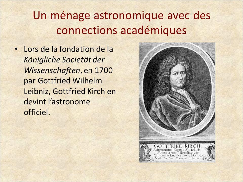 Un ménage astronomique avec des connections académiques