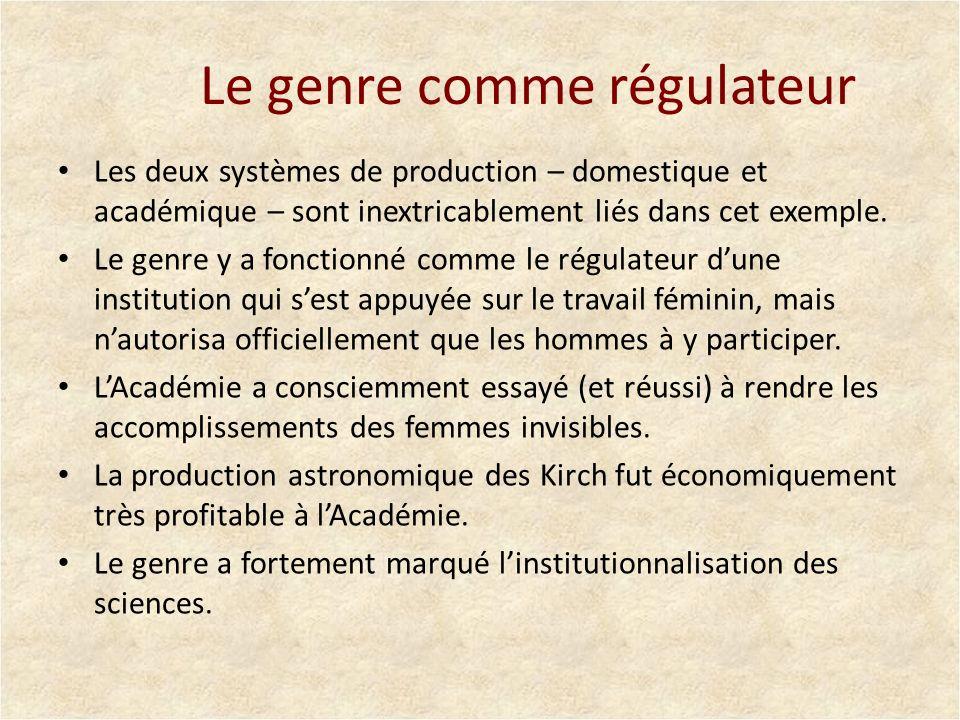 Le genre comme régulateur