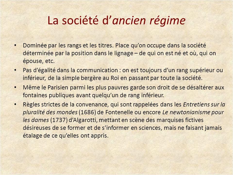 La société d'ancien régime