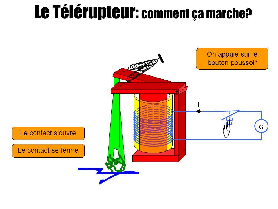  Le Télérupteur: comment ça marche On appuie sur le bouton poussoir