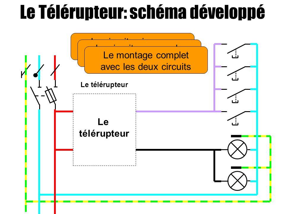 Le Télérupteur: schéma développé