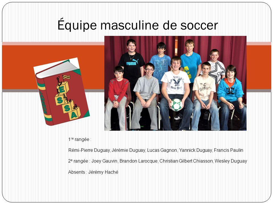 Équipe masculine de soccer