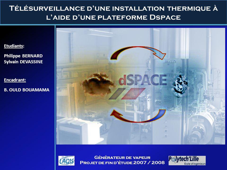 Télésurveillance d'une installation thermique à l'aide d'une plateforme Dspace