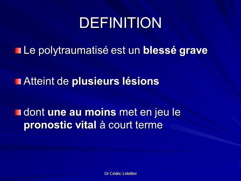 DEFINITION Le polytraumatisé est un blessé grave