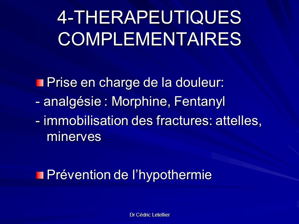 4-THERAPEUTIQUES COMPLEMENTAIRES