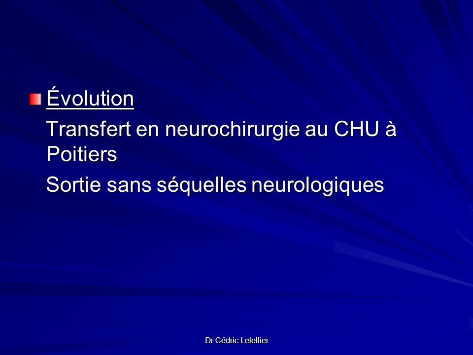 Transfert en neurochirurgie au CHU à Poitiers