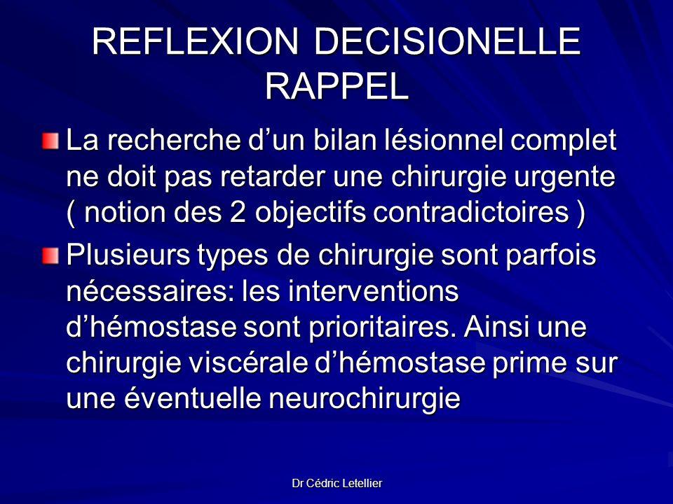 REFLEXION DECISIONELLE RAPPEL