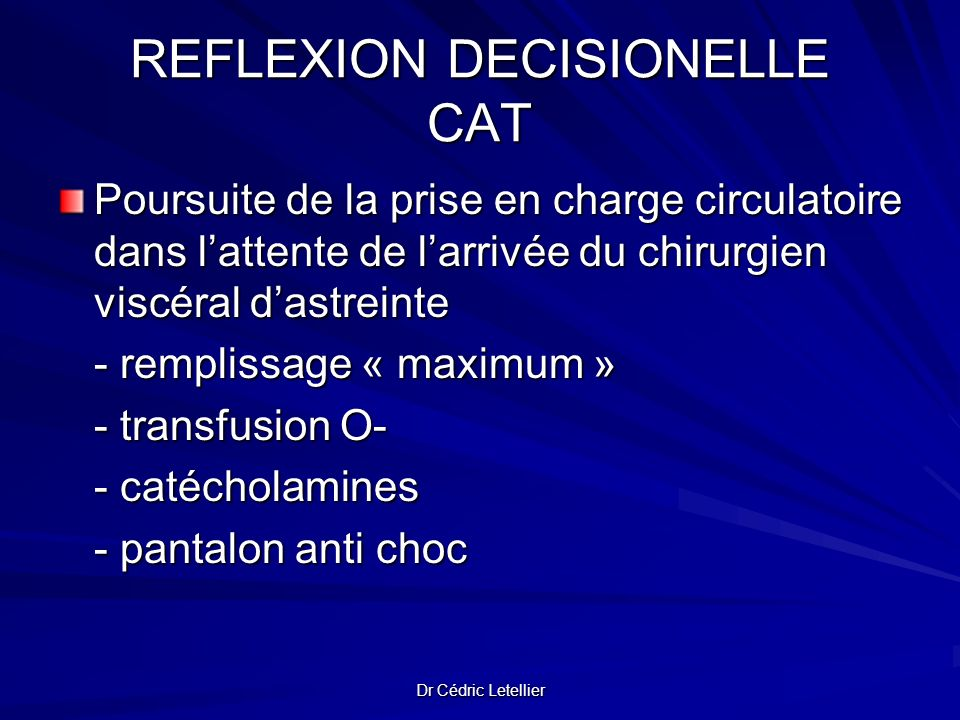 REFLEXION DECISIONELLE CAT