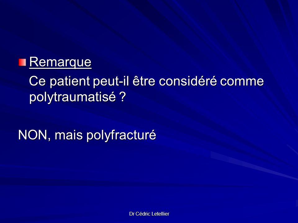 Ce patient peut-il être considéré comme polytraumatisé