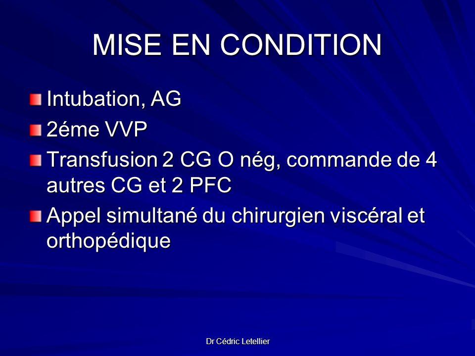MISE EN CONDITION Intubation, AG 2éme VVP