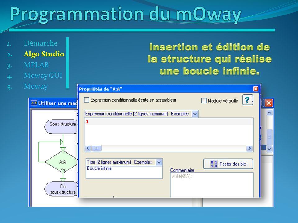 Insertion et édition de la structure qui réalise une boucle infinie.