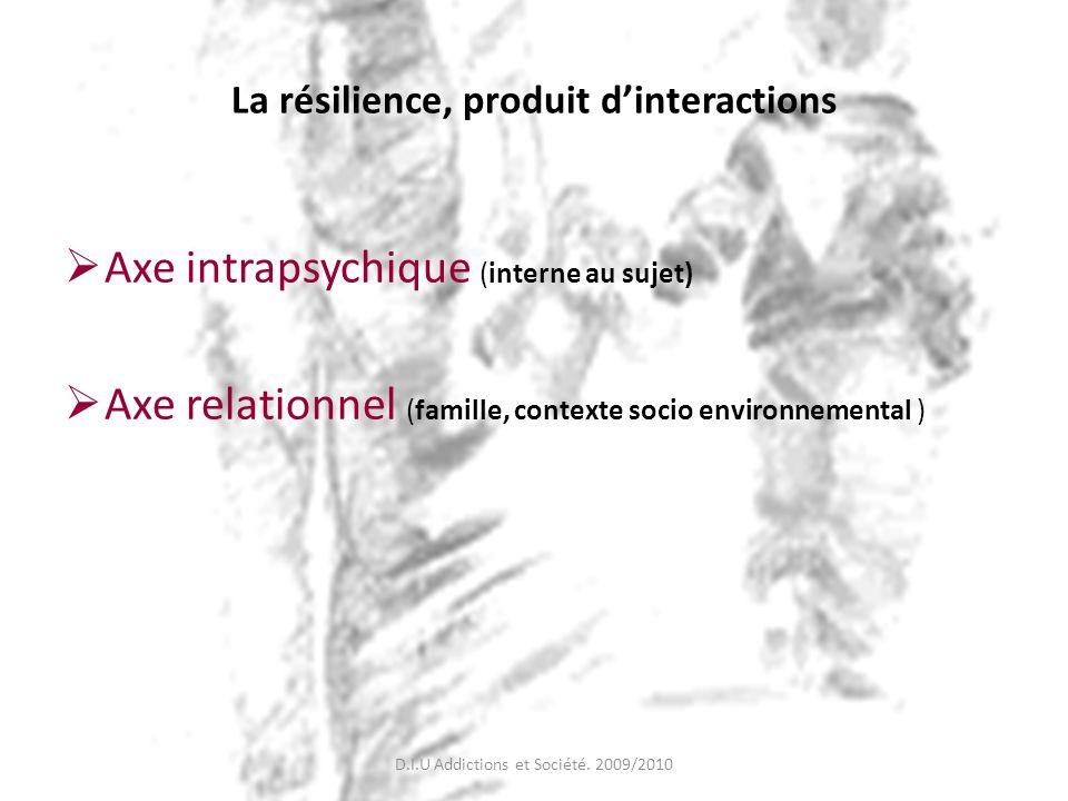 La résilience, produit d'interactions
