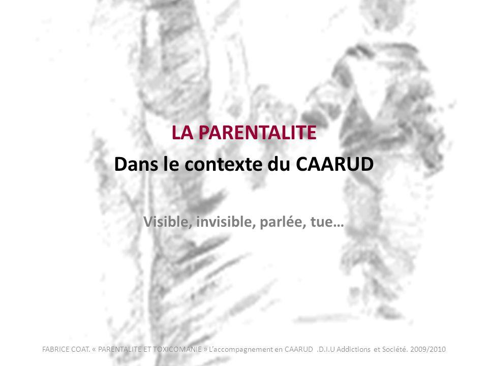 Dans le contexte du CAARUD Visible, invisible, parlée, tue…