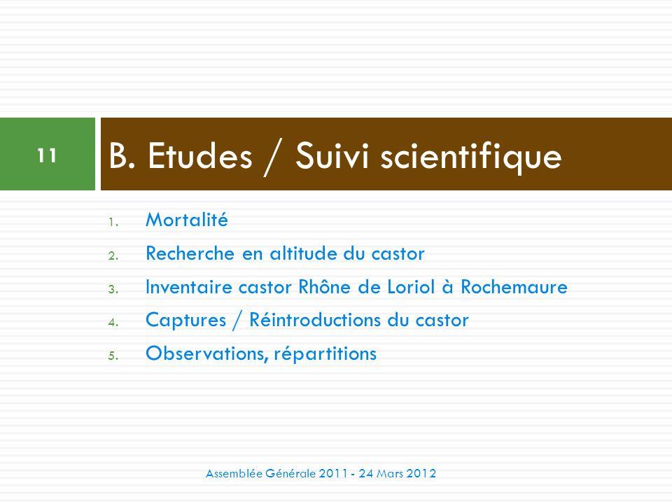 B. Etudes / Suivi scientifique