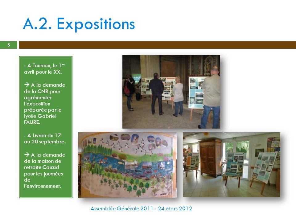 A.2. Expositions - A Tournon, le 1er avril pour le XX.