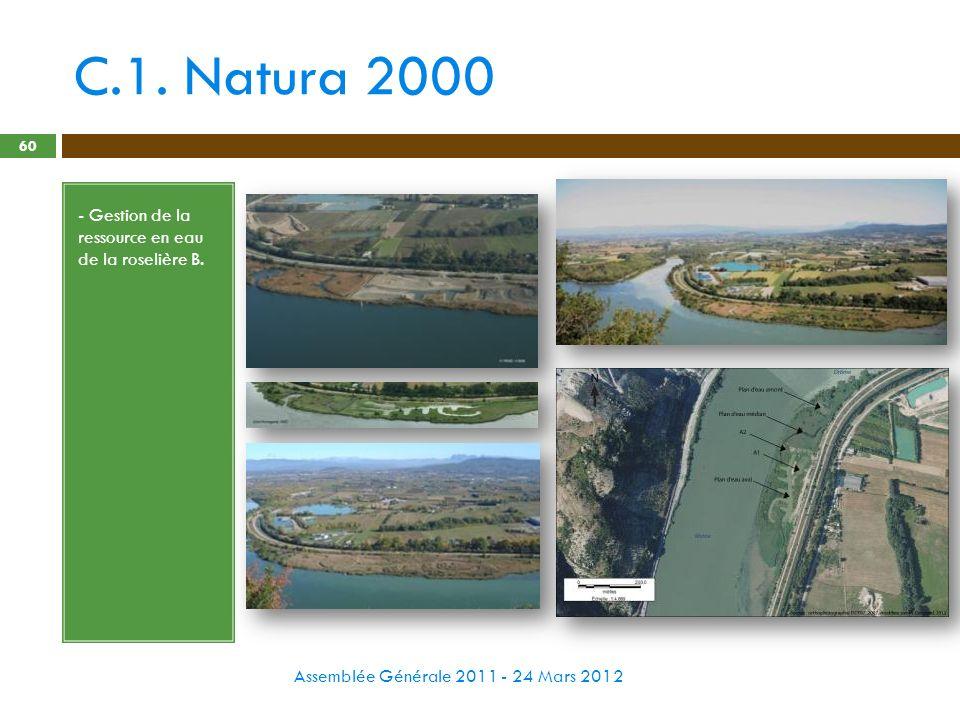 C.1. Natura 2000 - Gestion de la ressource en eau de la roselière B.