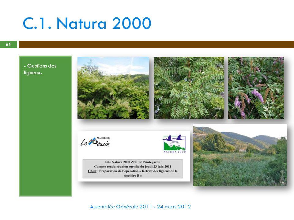 C.1. Natura 2000 - Gestions des ligneux.