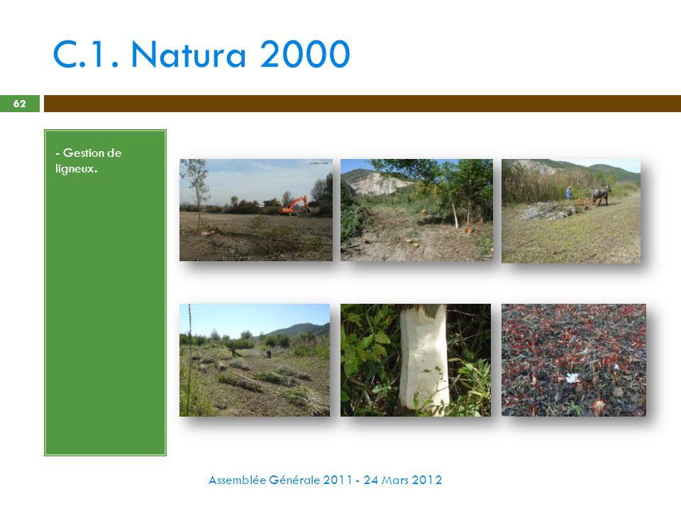 C.1. Natura 2000 - Gestion de ligneux.